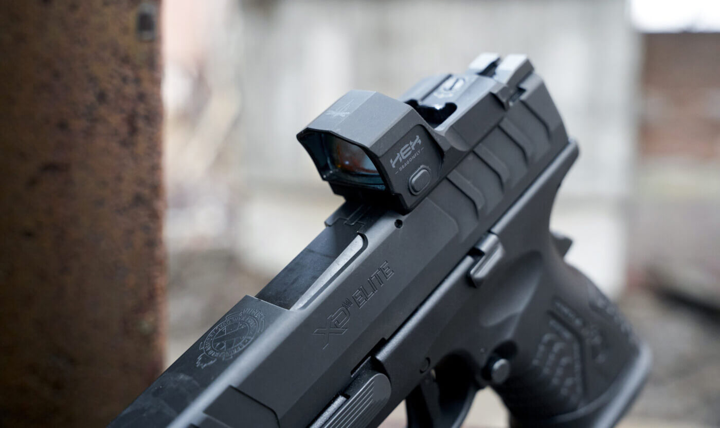 HEX Dragonfly red dot optic on a pistol