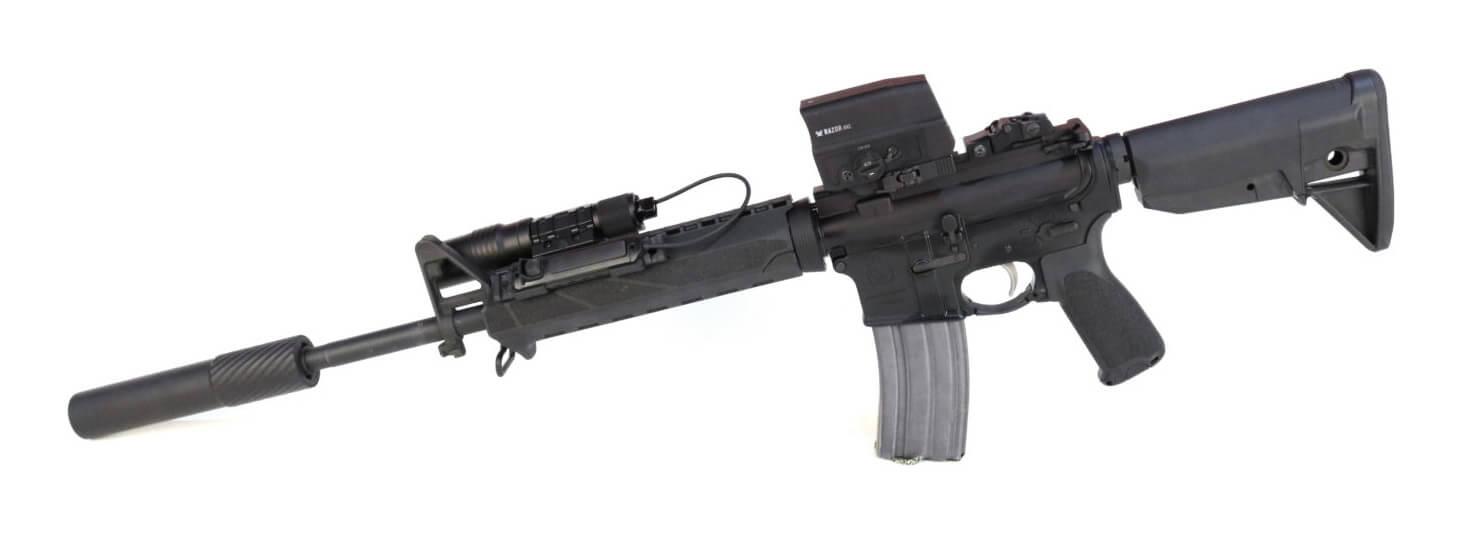 Vortex AMG UH-1 sight mounted on a Springfield AR-15 rifle