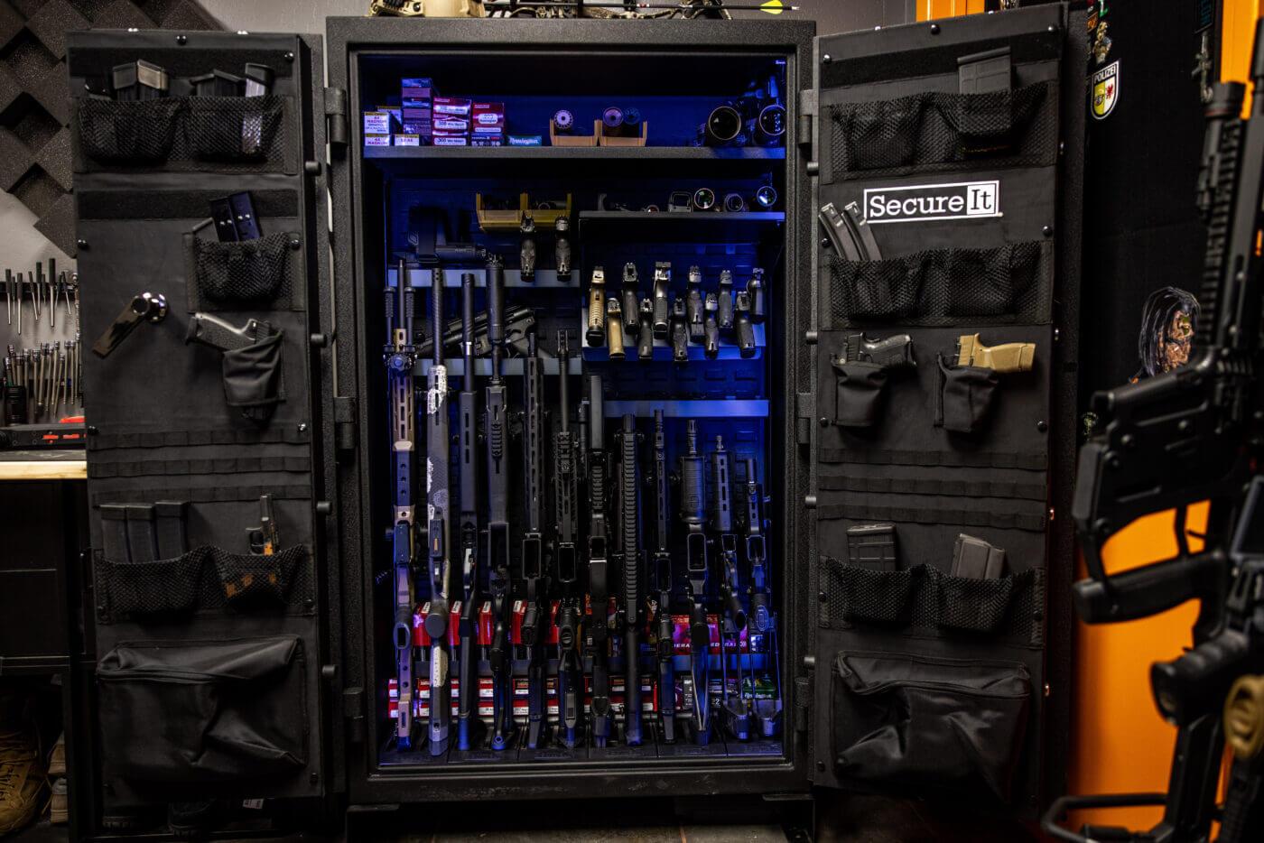 Swing out doors on SecureIt gun safe