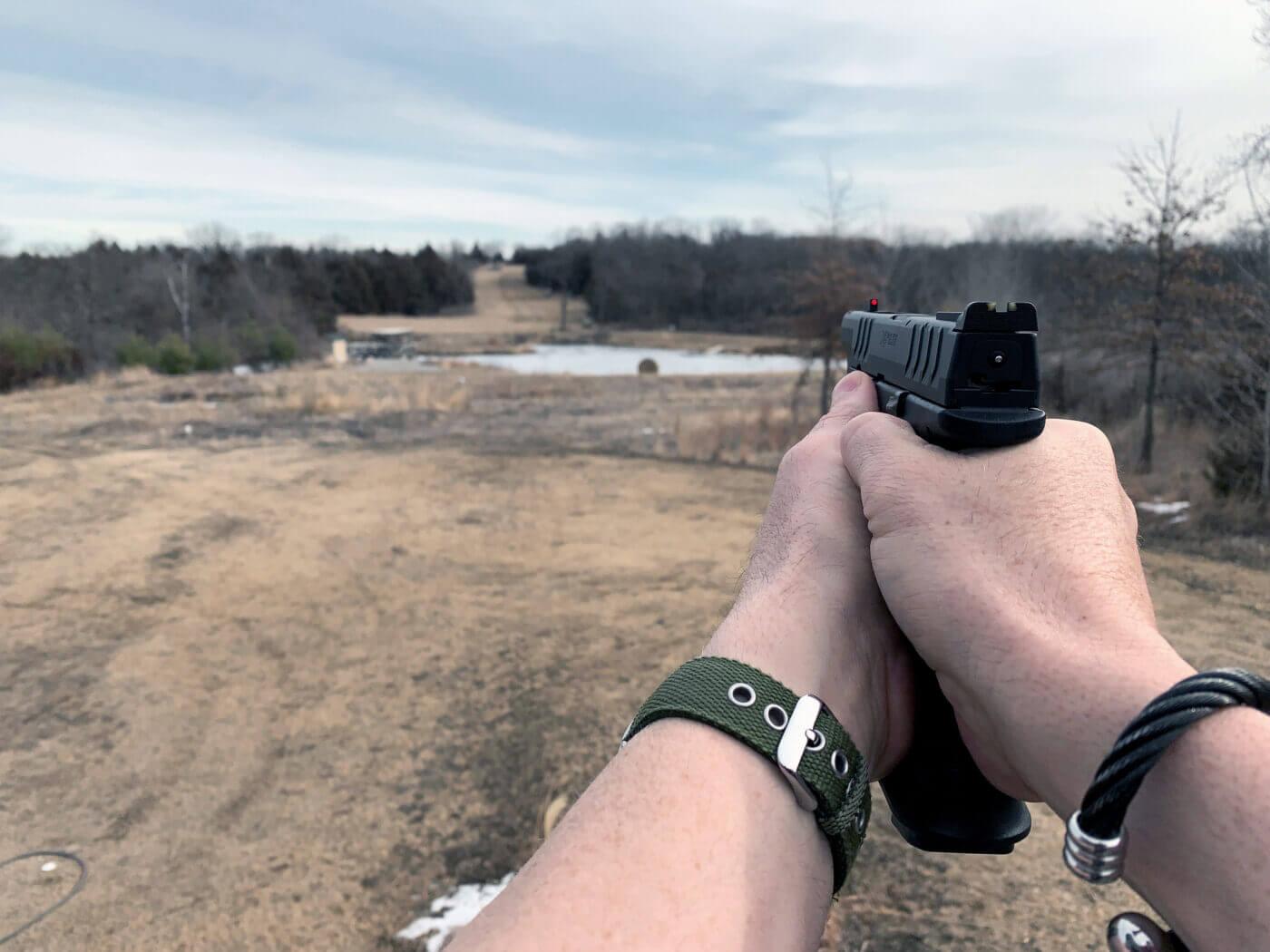Long distance pistol shooting