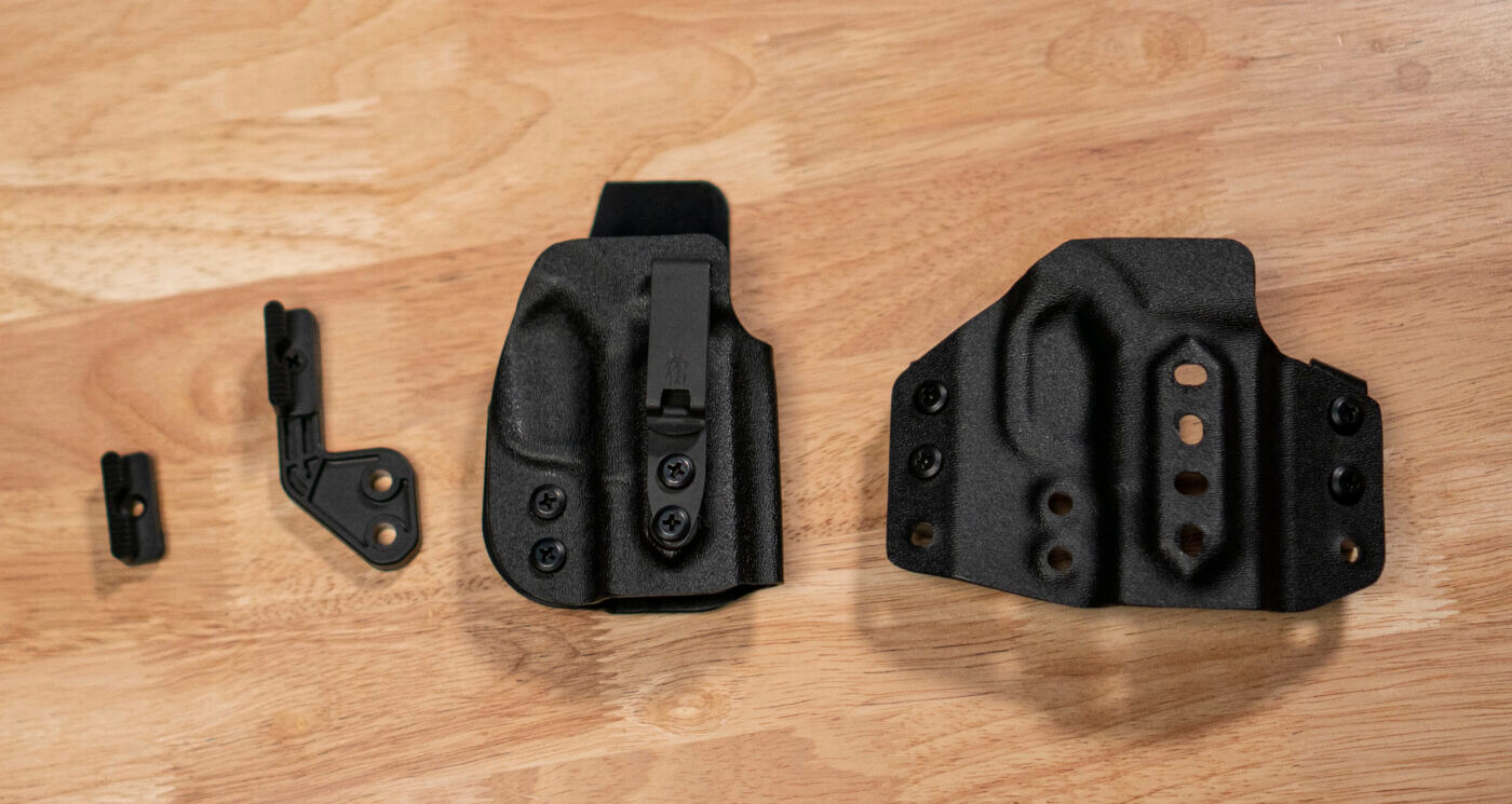 Parts of the Trifecta holster