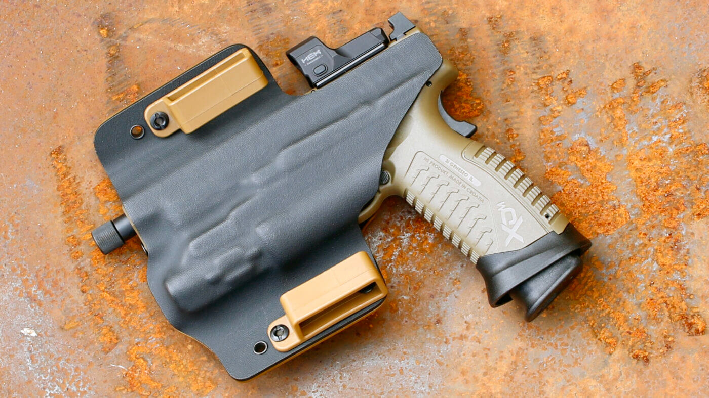 Springfield Armory XD-M Elite pistol in Ares holster