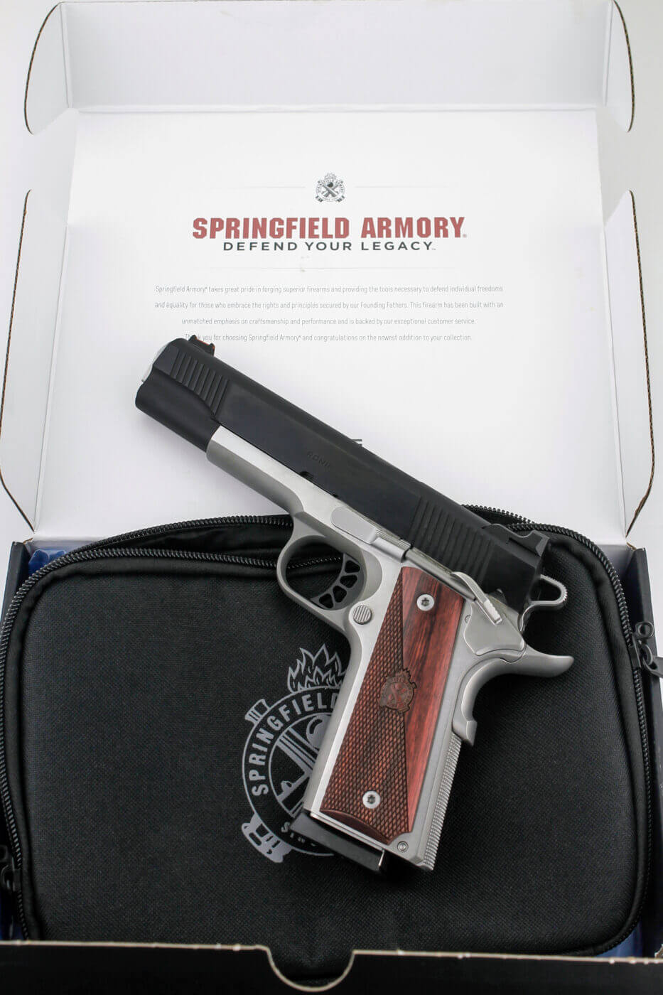 Springfield Armory 1911 Ronin in a box as delivered
