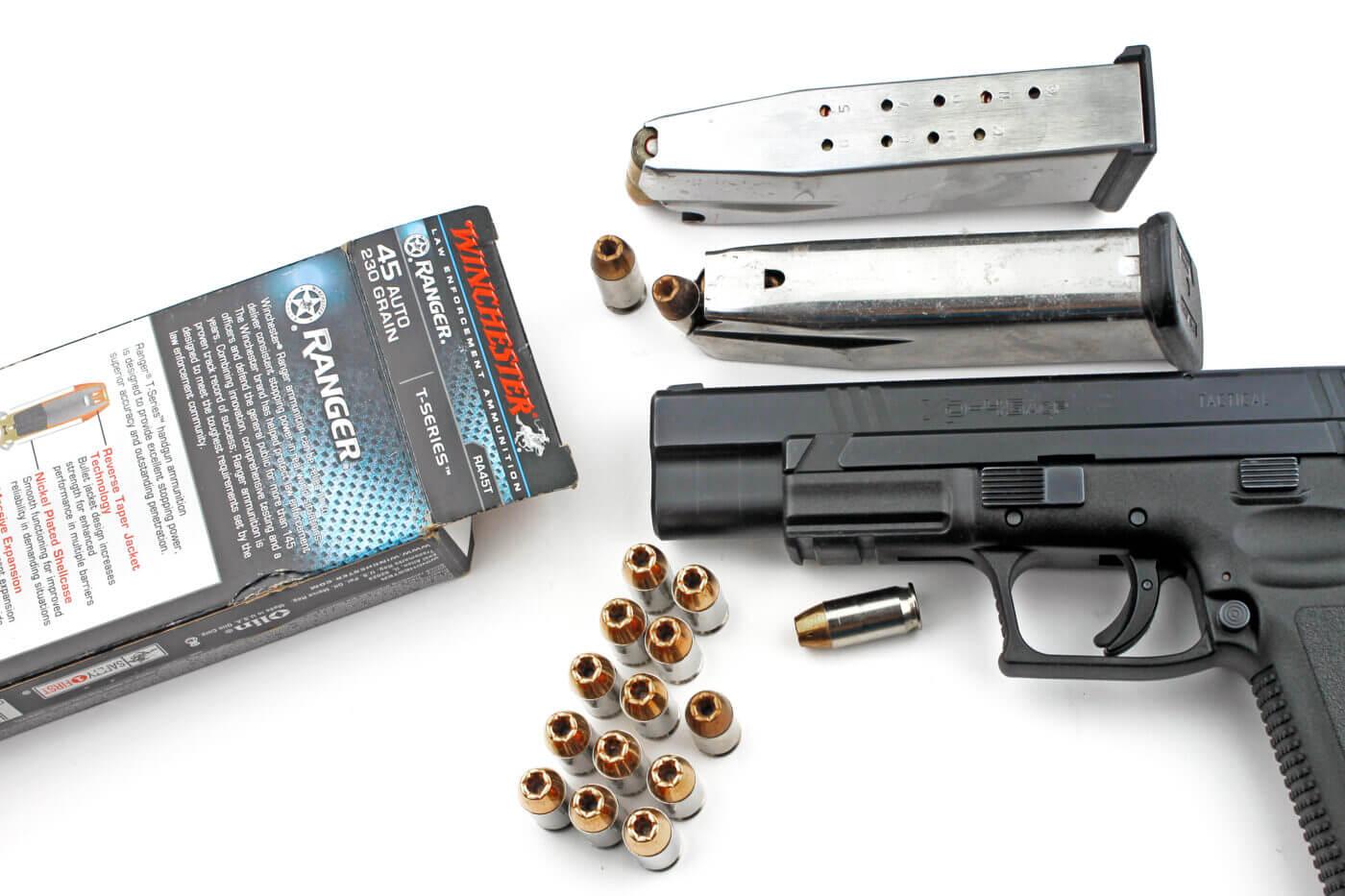 High capacity .45 ACP pistol
