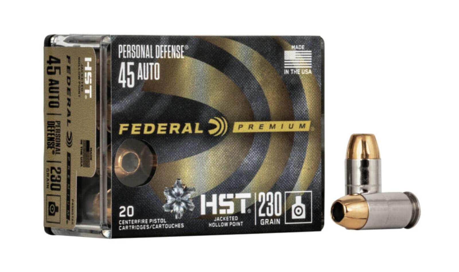 Federal Premium Personal Defense .45 Auto box of ammo