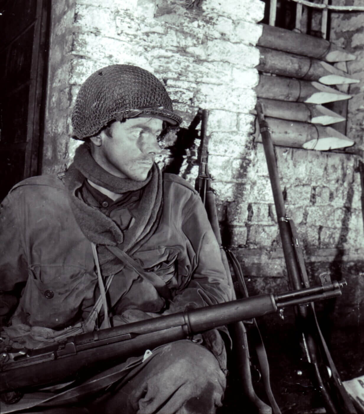 M1 Garand held by GI of the 69th Infantry Division in Germany