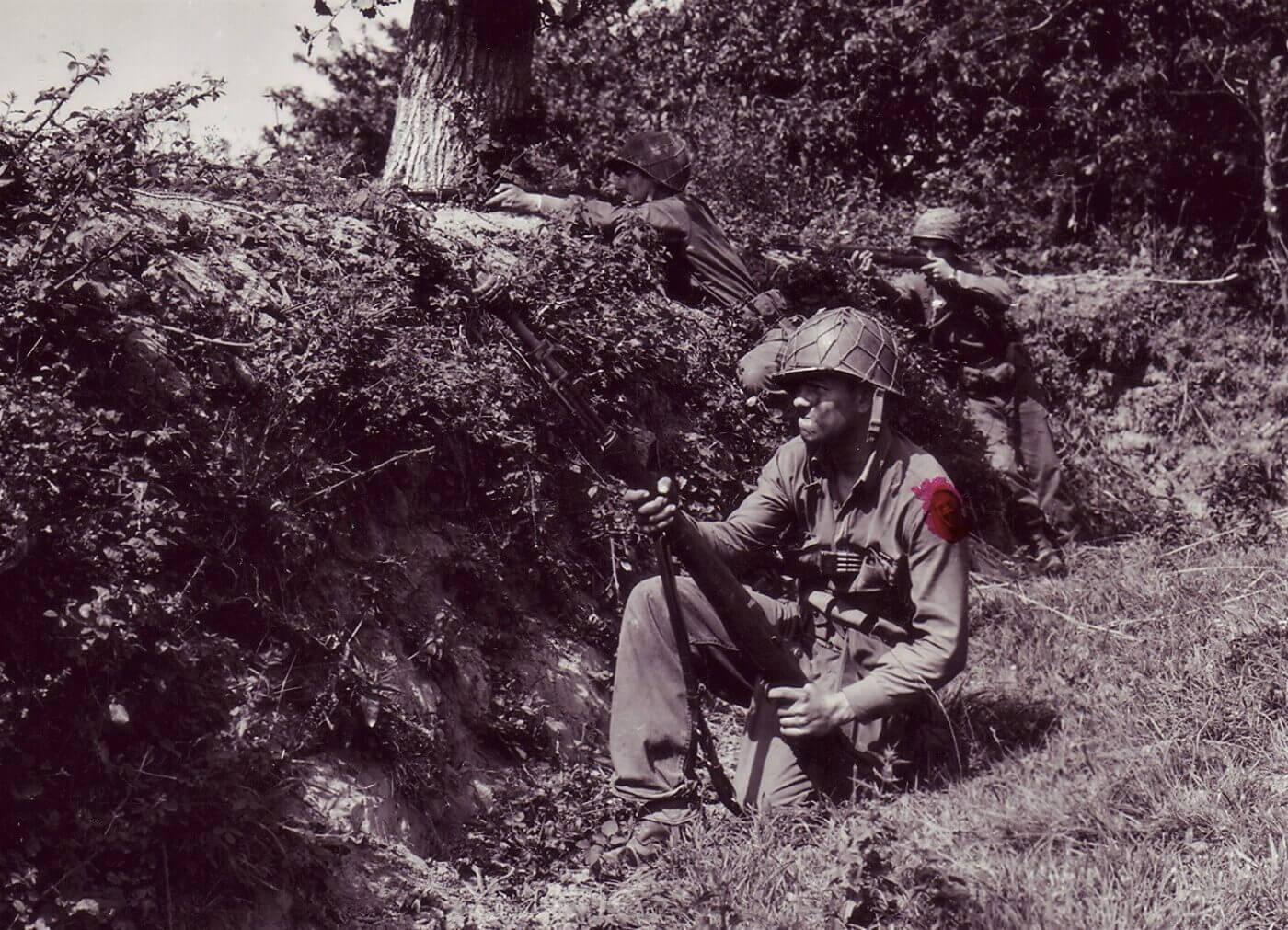 M1 grenade launcher in Normandy