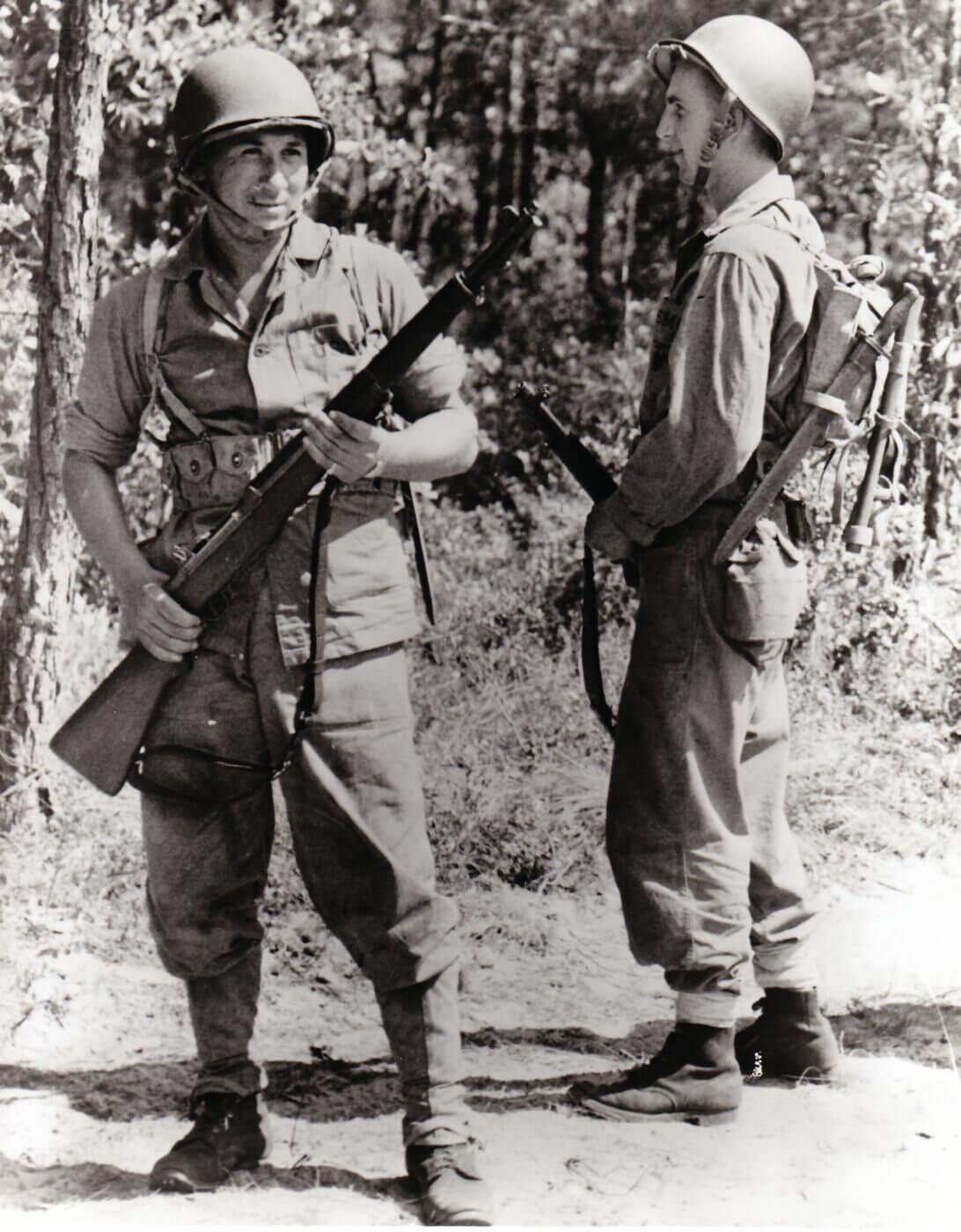 M1 Garand rifle with Marine Raiders in 1943