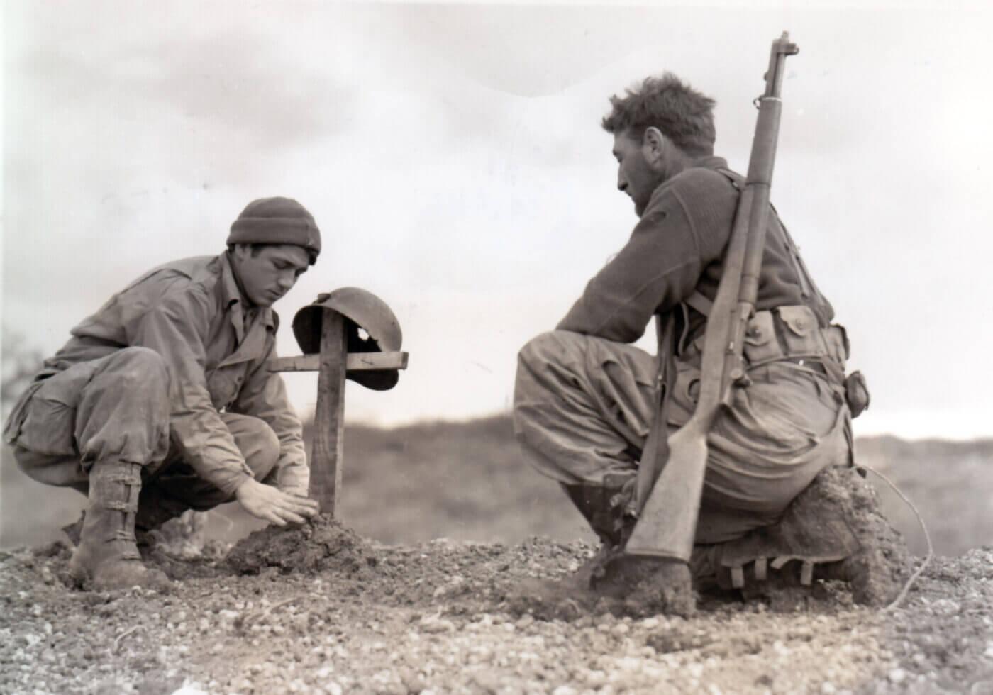 U.S. GIs mourn losses at Anzio