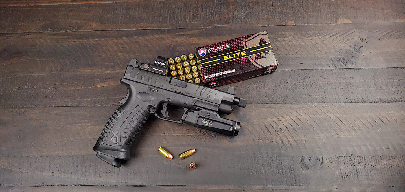 Springfield Armory pistol used in string drill