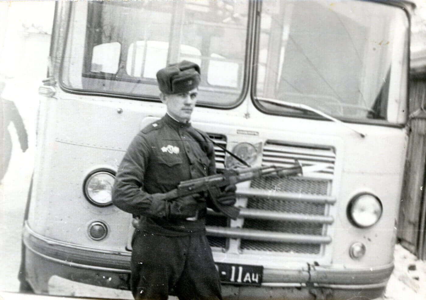 USSR soldier with AK-47