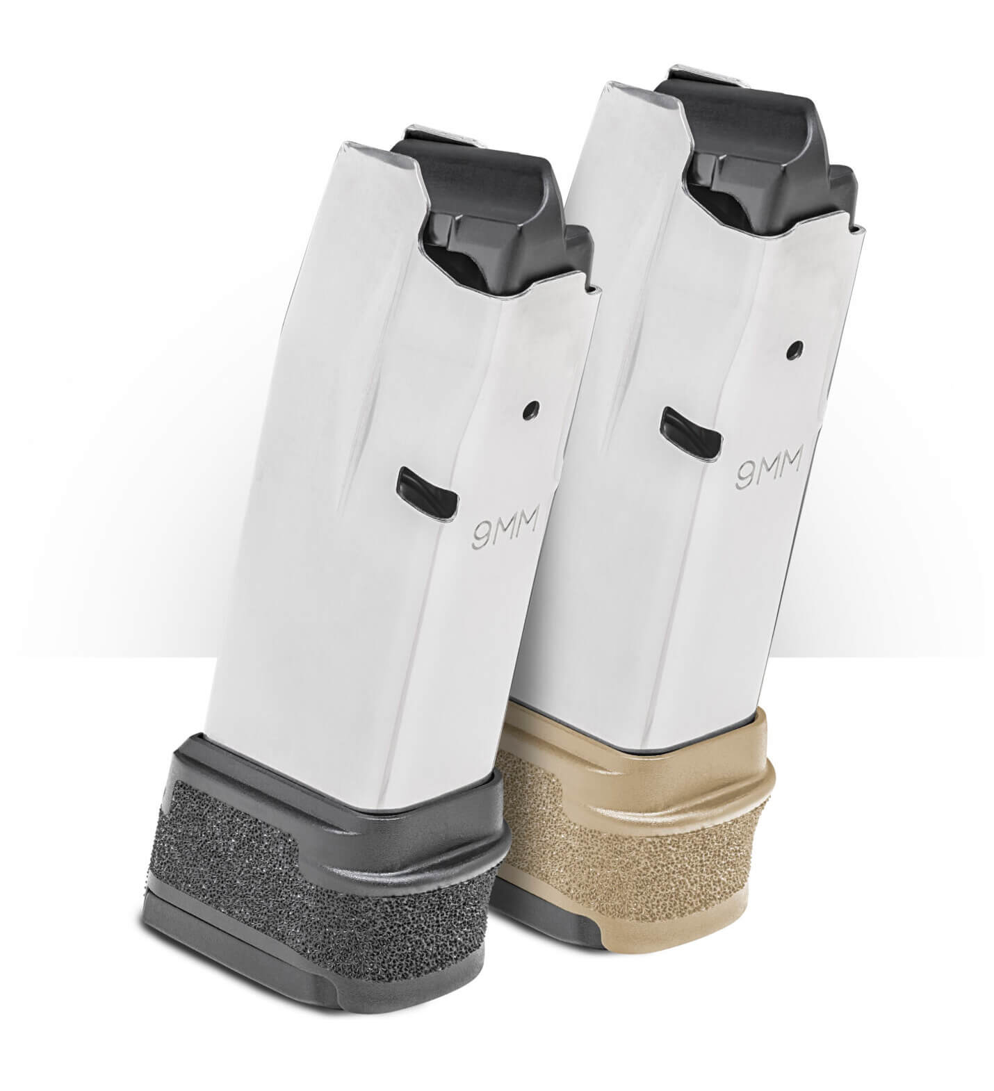 FDE and black magazines for Springfield Hellcat pistol