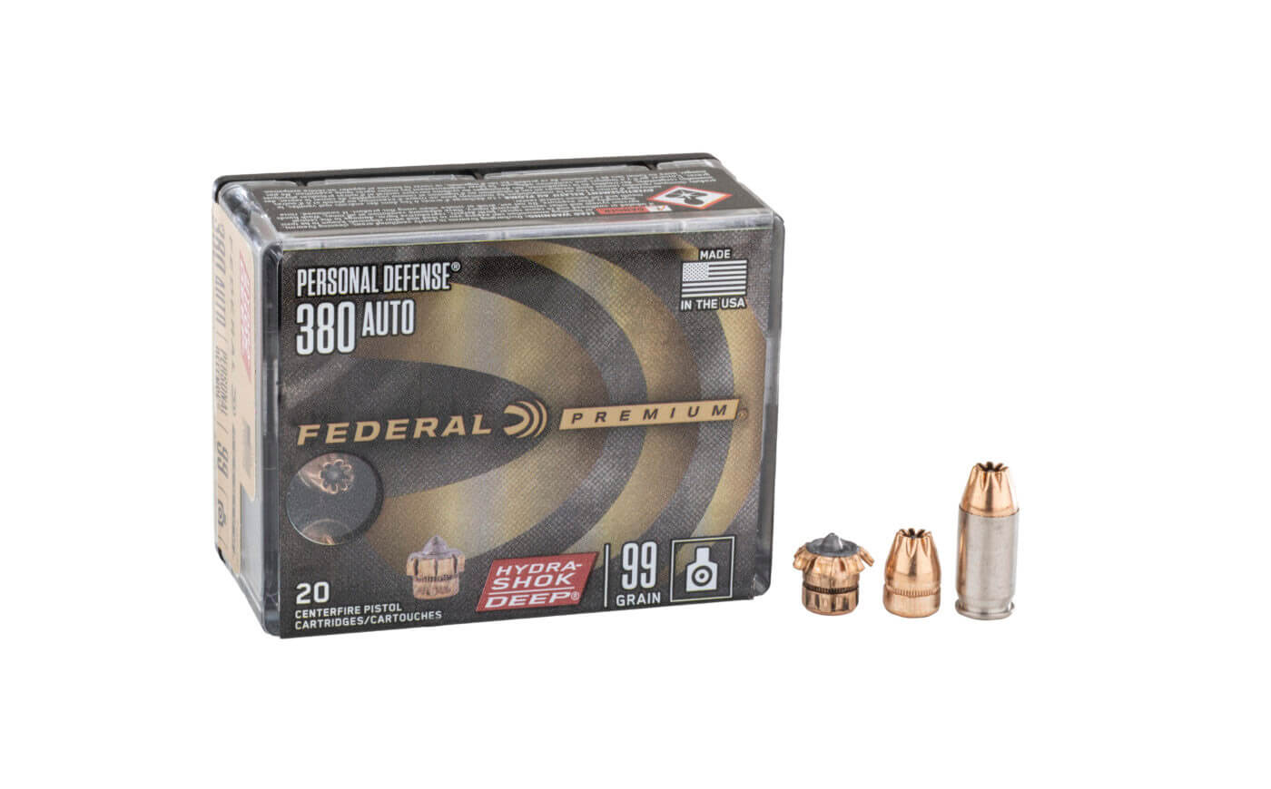 Federal Hydra-Shok Deep .380 packaging