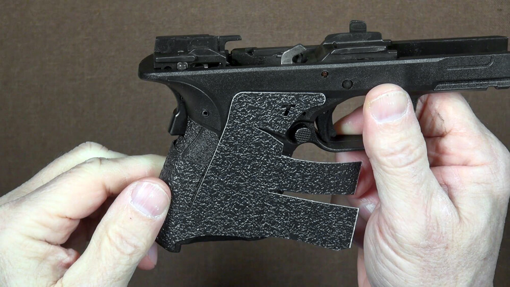 Wrapping the Talon Grips to the frame of pistol