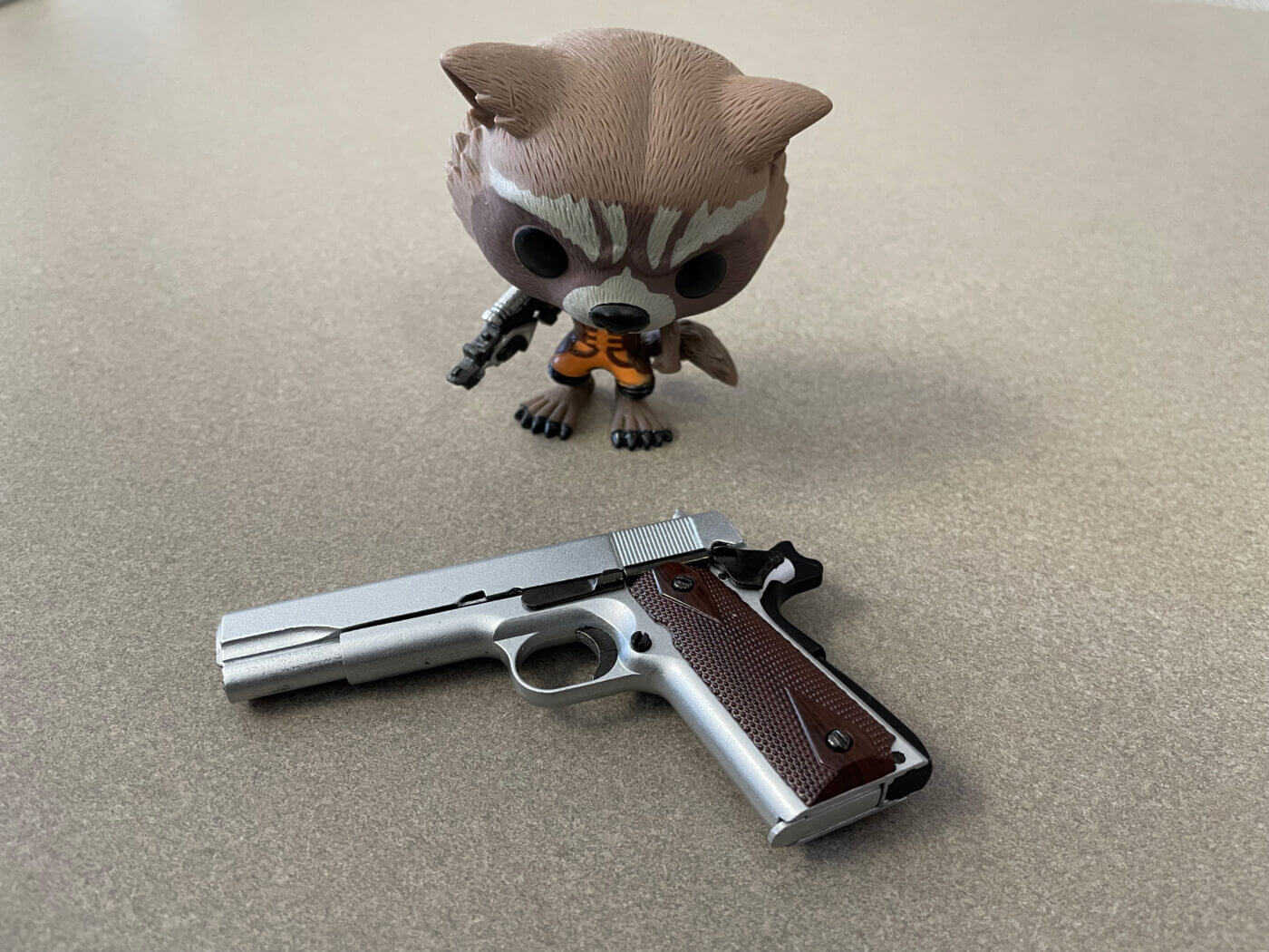 Rocket raccoon with 1911 from GoatGuns