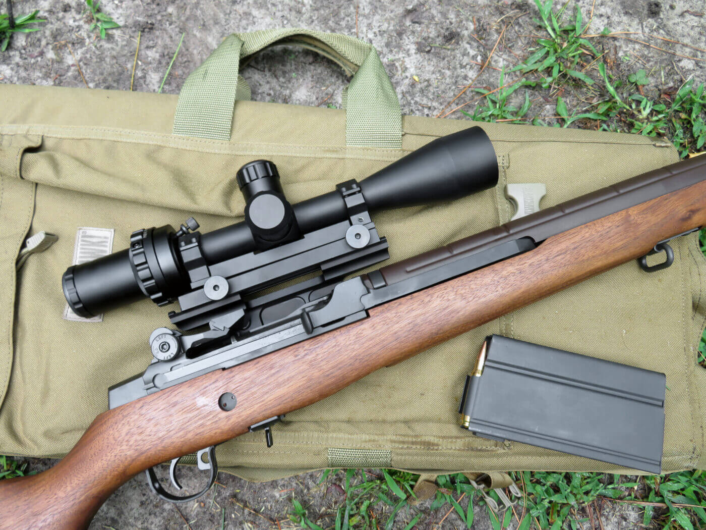 M1A with ART scope and accessories