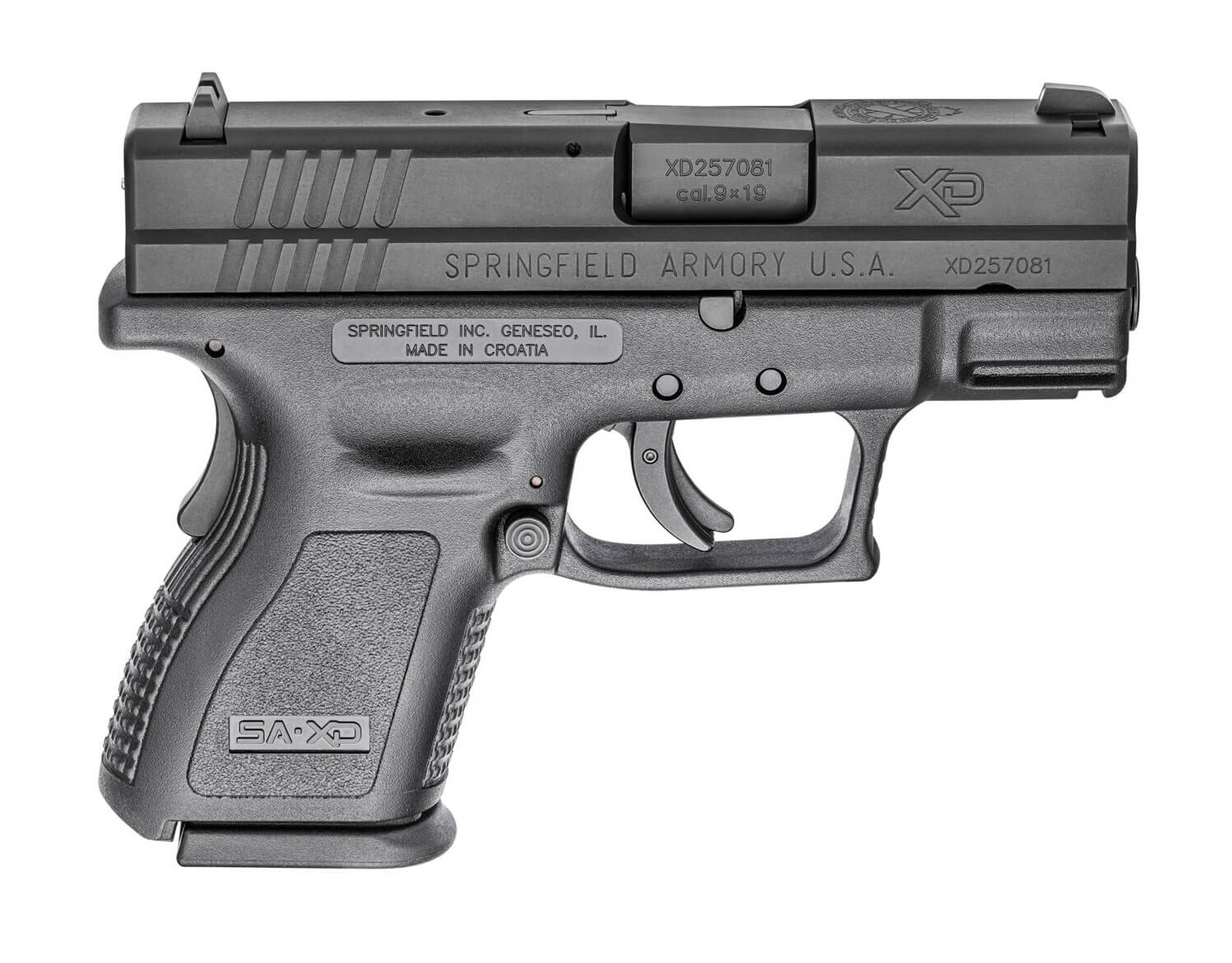 Springfield Armory XD Sub-Compact side view