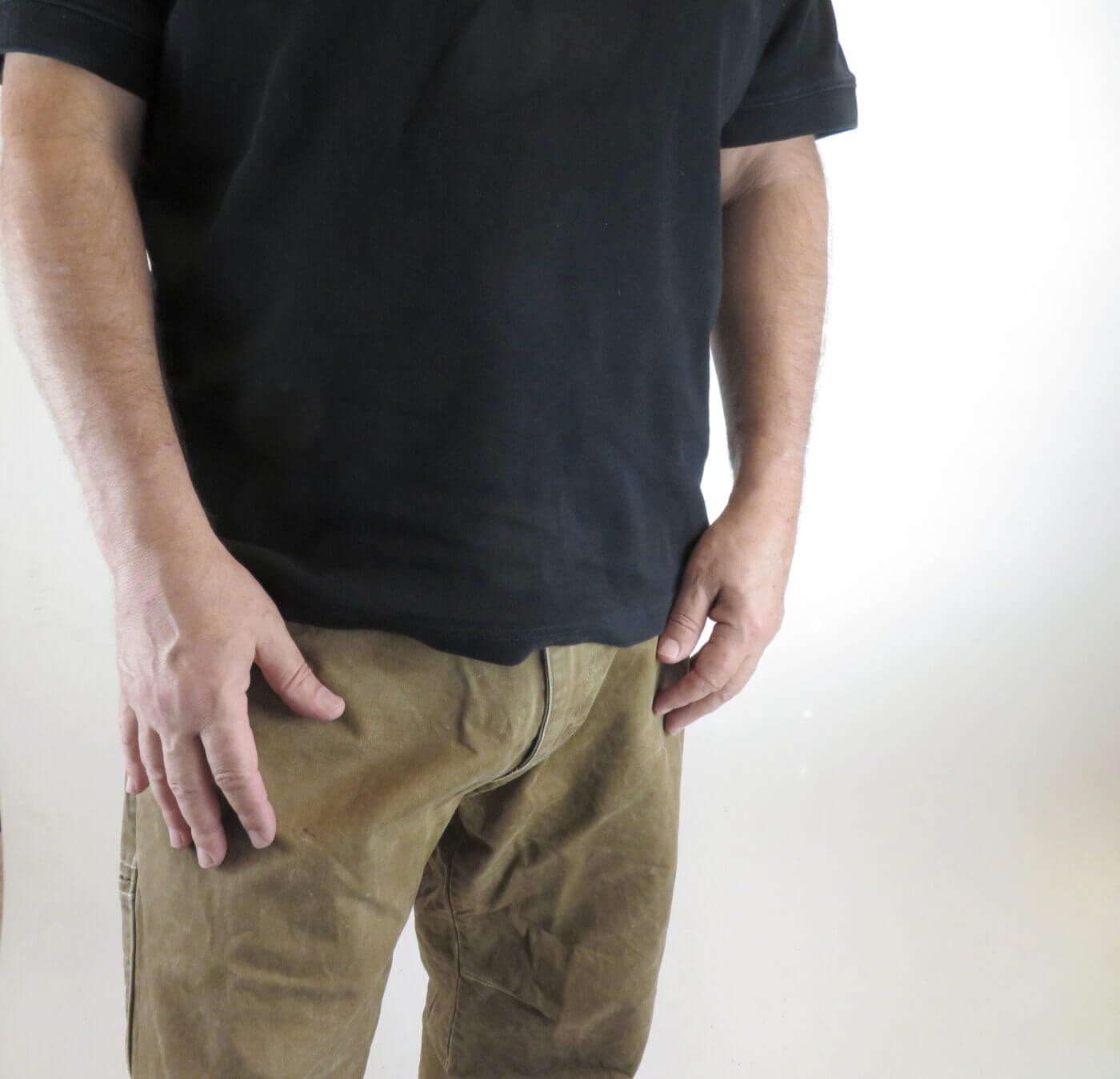 Concealed handgun under shirt