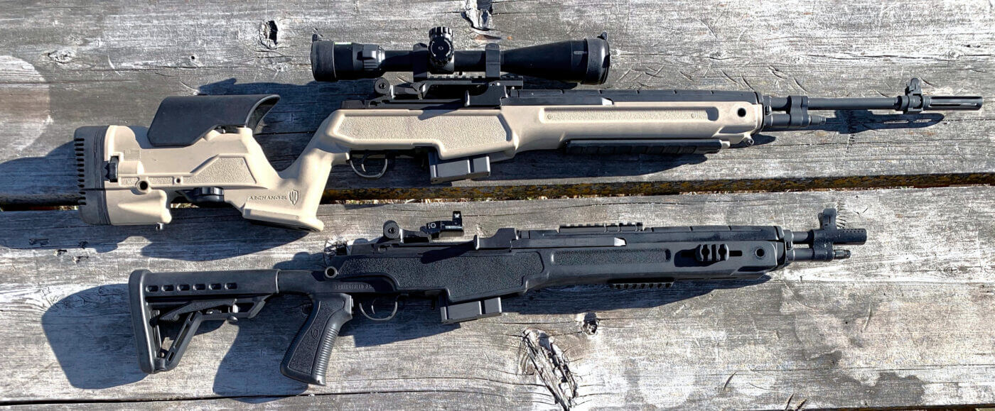Different scope types on M1A rifles