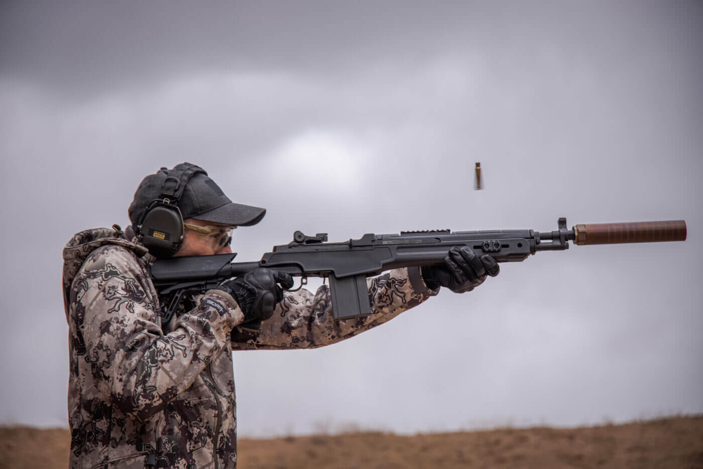 Properly tuned M1A rifle with suppressor