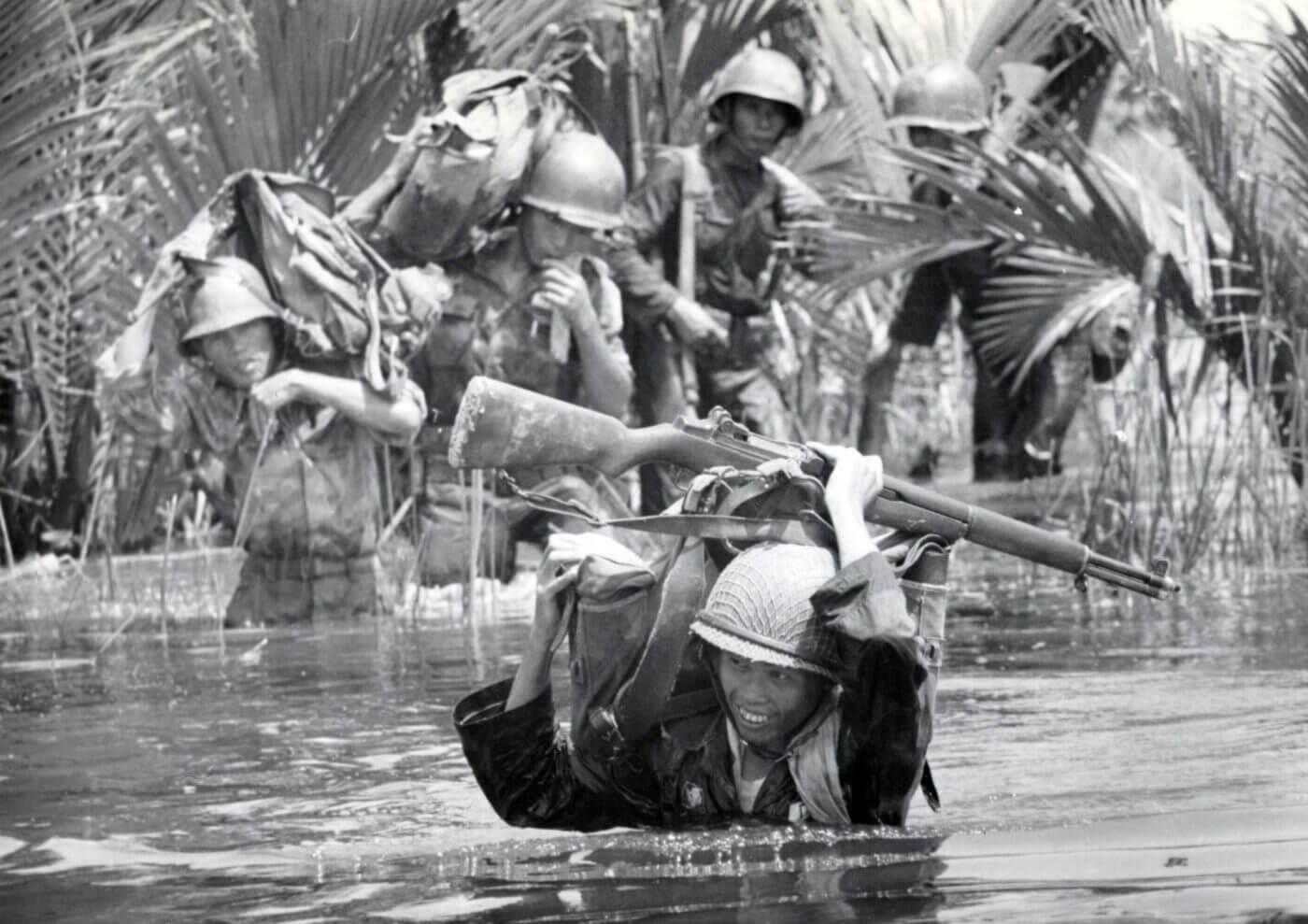 ARVN forces near Saigon with M1 Garand in Vietnam War
