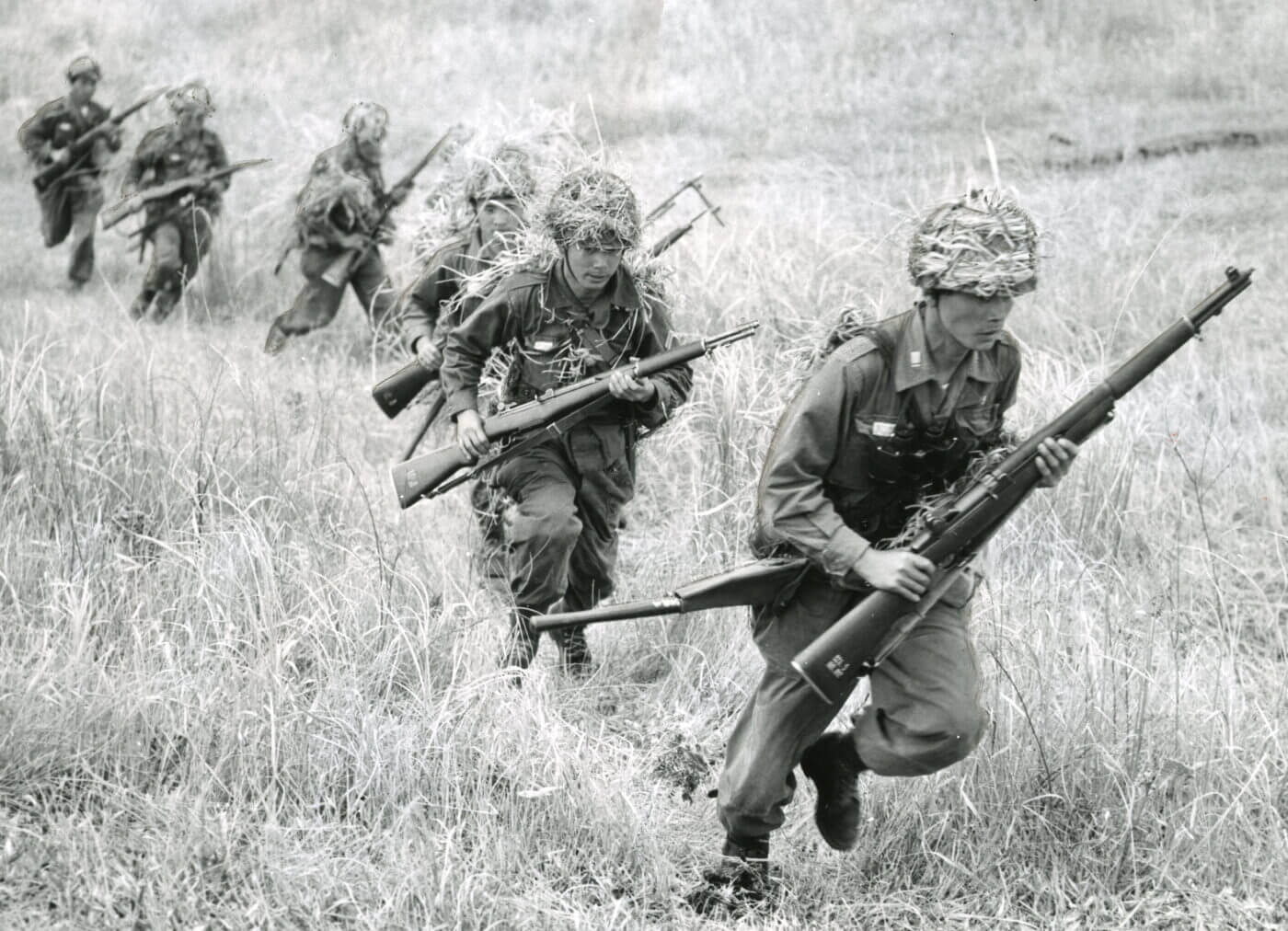 Japanese Self-Defense Forces armed with M1 Garand rifles