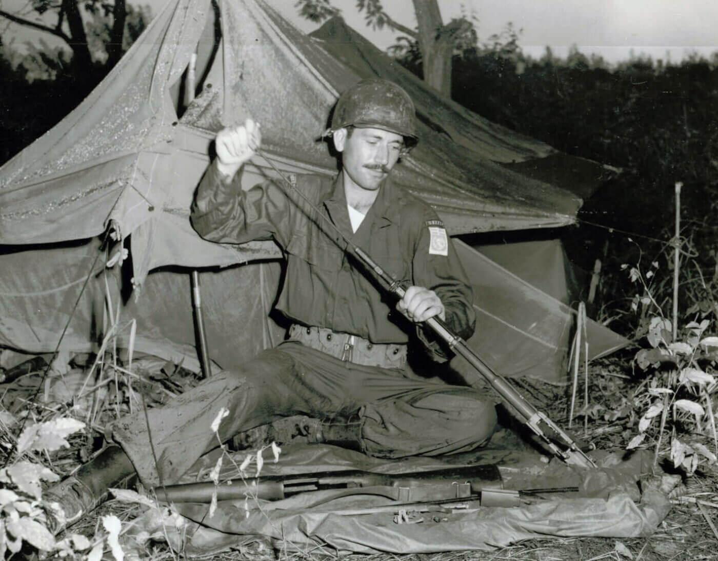 Greek soldier with M1 in Korean War
