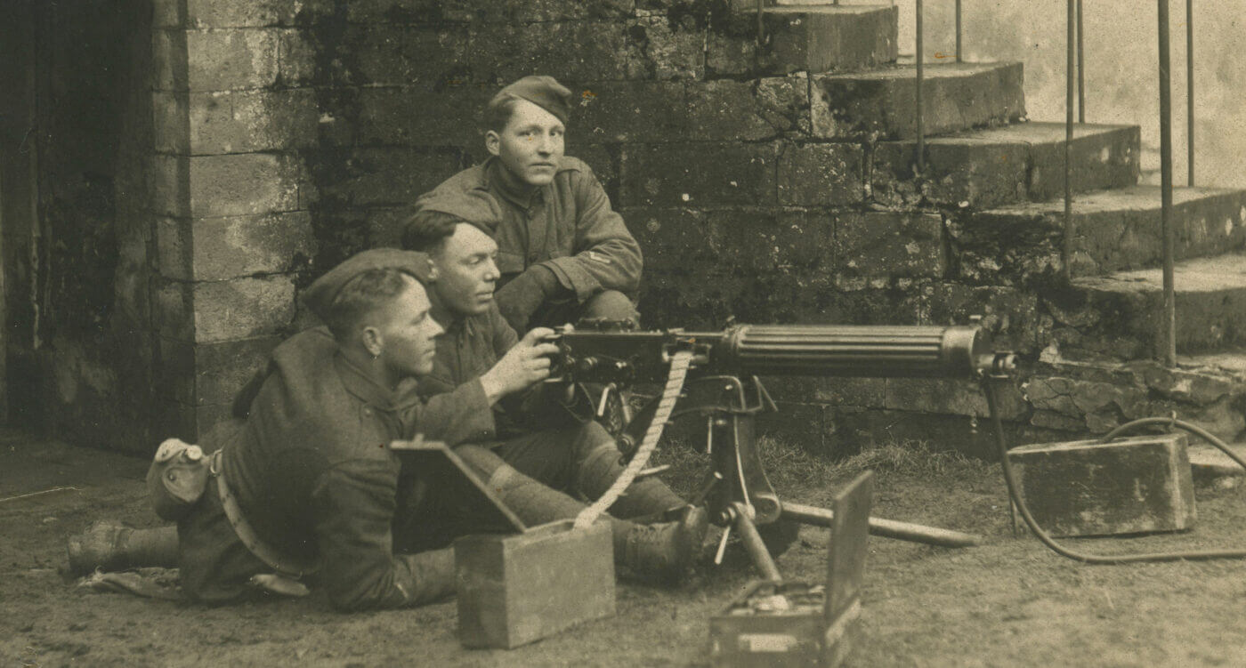 WWI Vickers in action