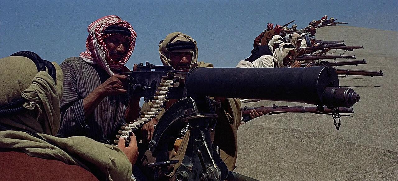 Vickers machine gun in Lawrence of Arabia