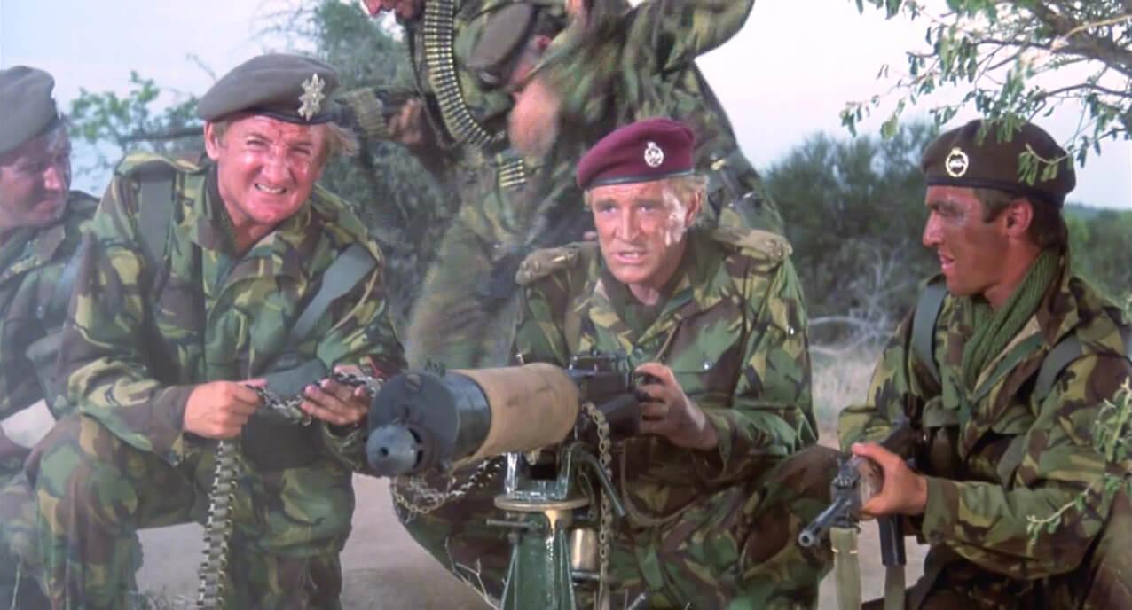 Vickers machine gun in The Wild Geese