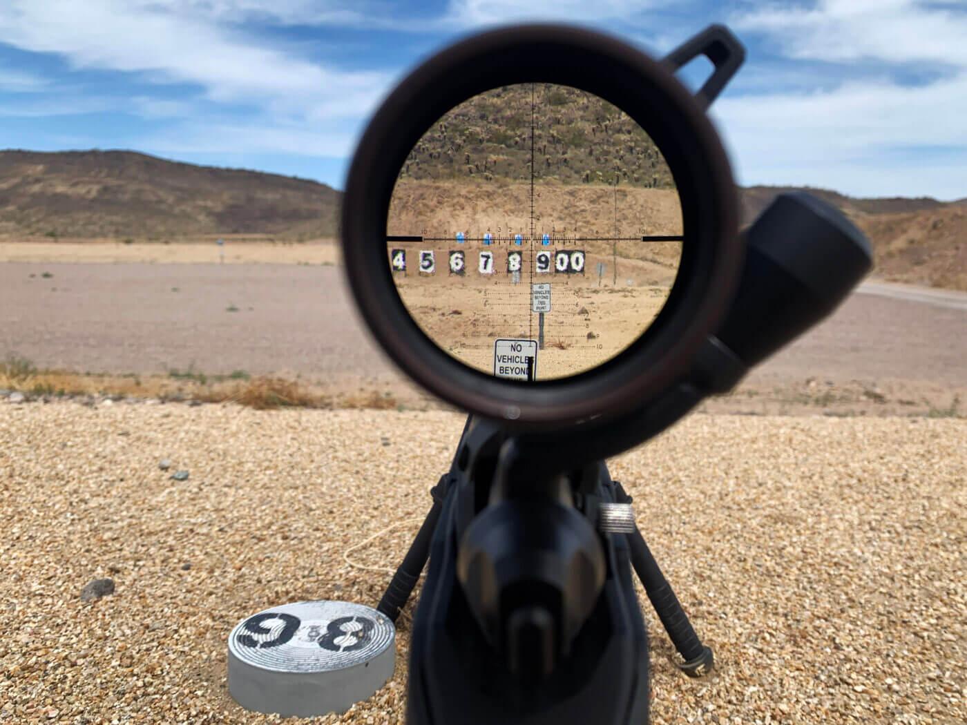 Vortex precision long range rifle scope view