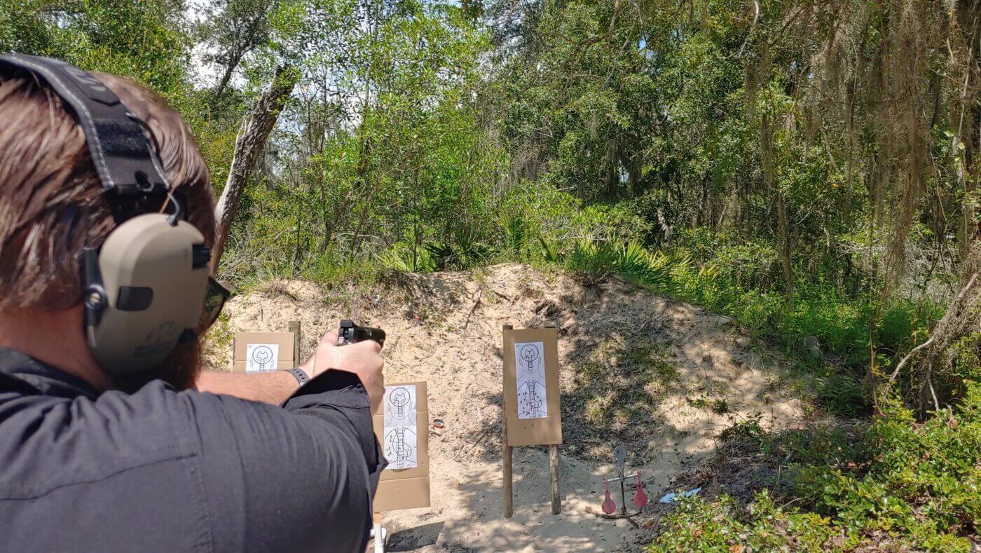 Travis Pike shooting the El Presidente drill