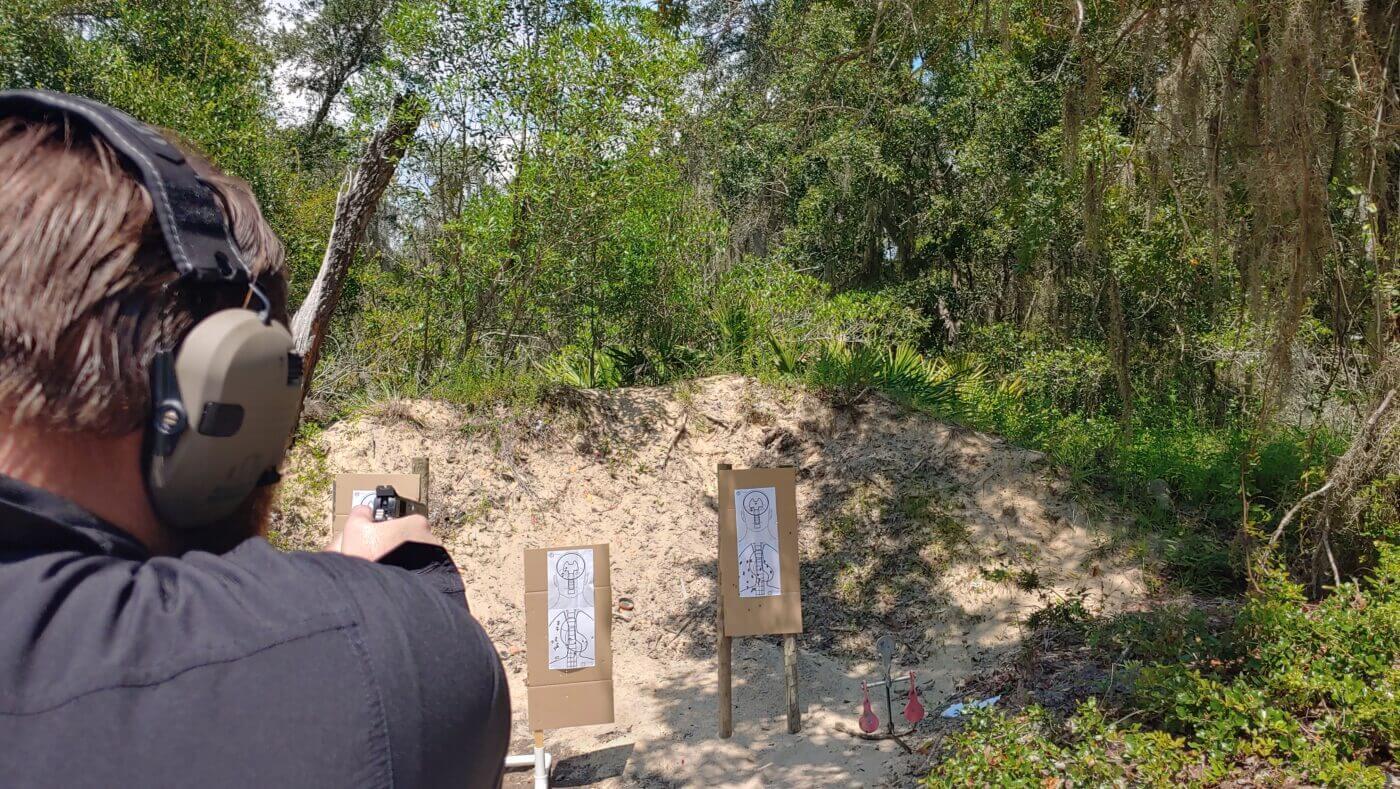 Three target shooting drill