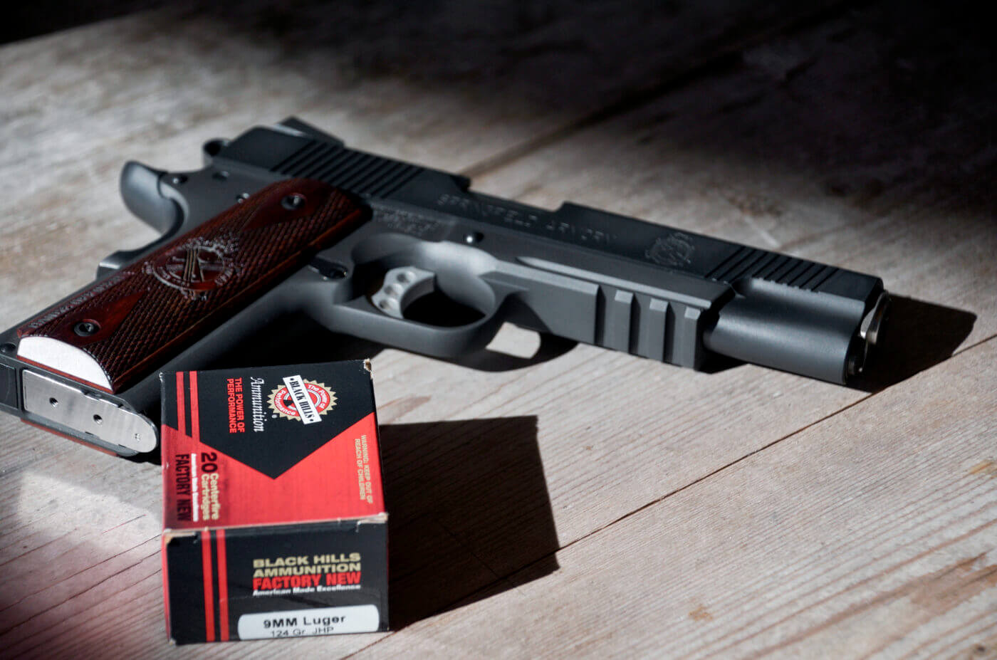 9mm 1911 pistol with ammo