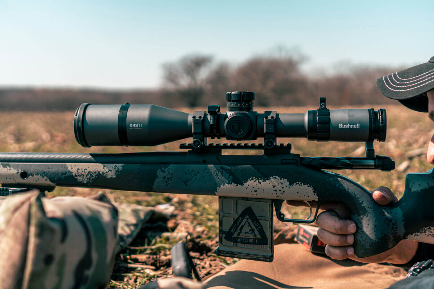 Bushnell Elite Tactical XRS II scope on a Springfield rifle