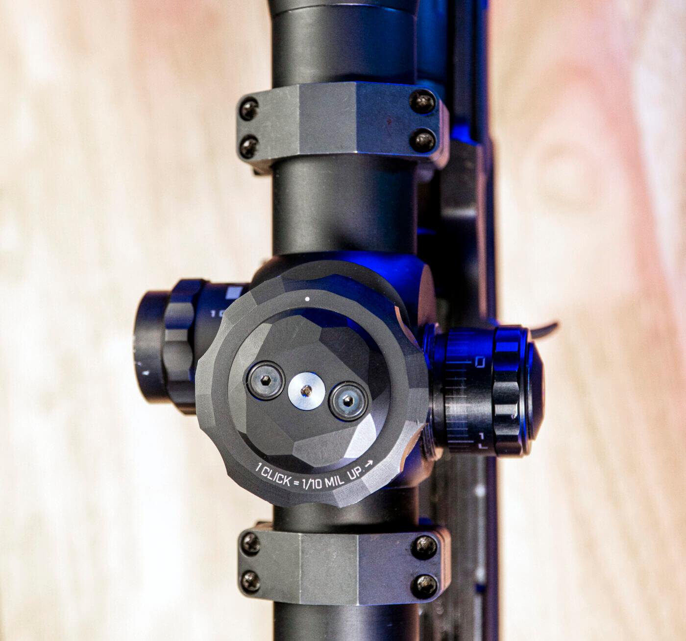 Elevation knob detail on FDN 25X scope