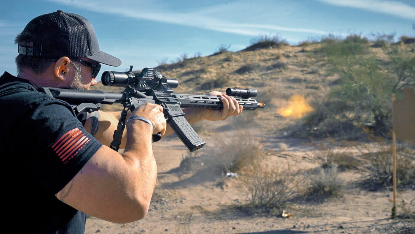 Shooting the SAINT rifle with steel ammo