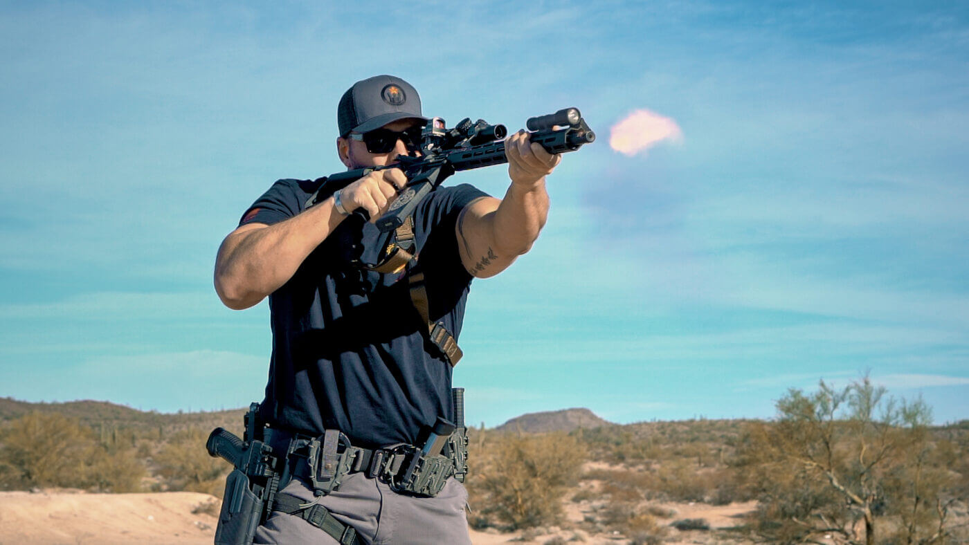 Training with the SAINT rifle and steel case ammo