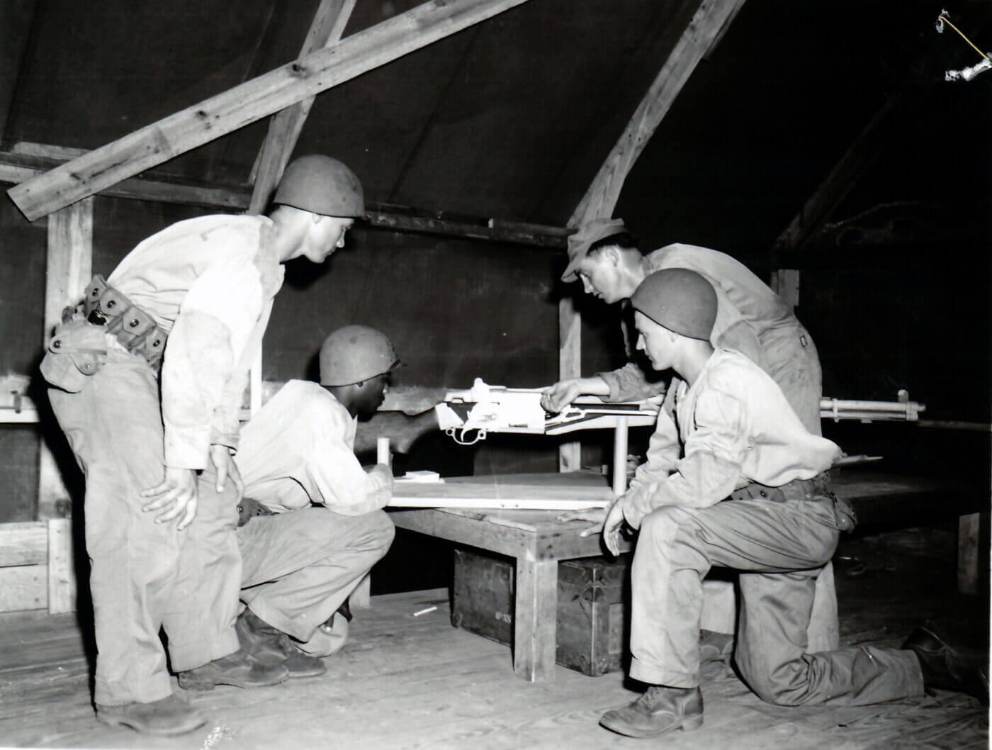 M1 training tool at Parris Island 1952