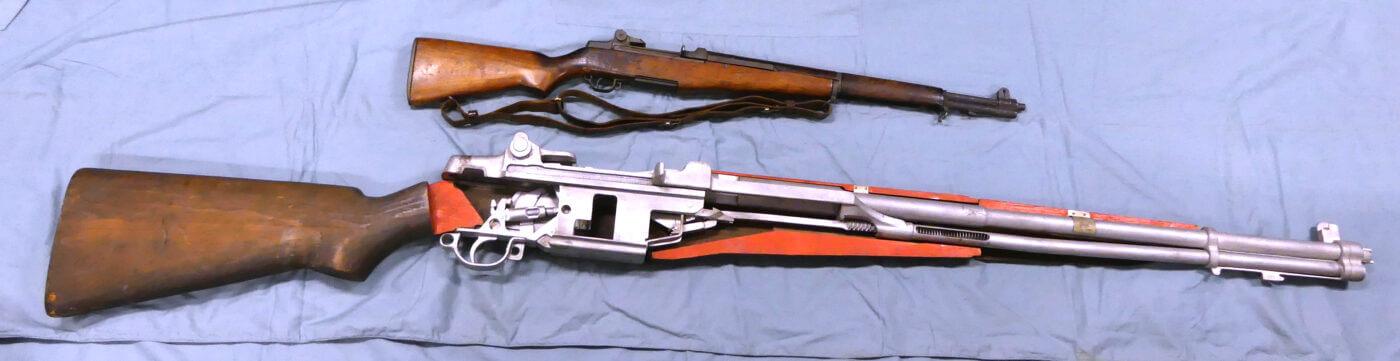M1 Garand and oversized cutaway