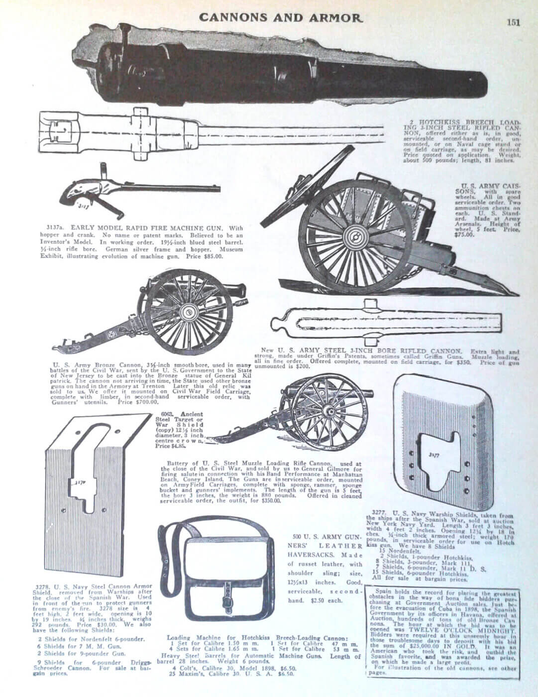 Catalog page from Bannerman milsurp