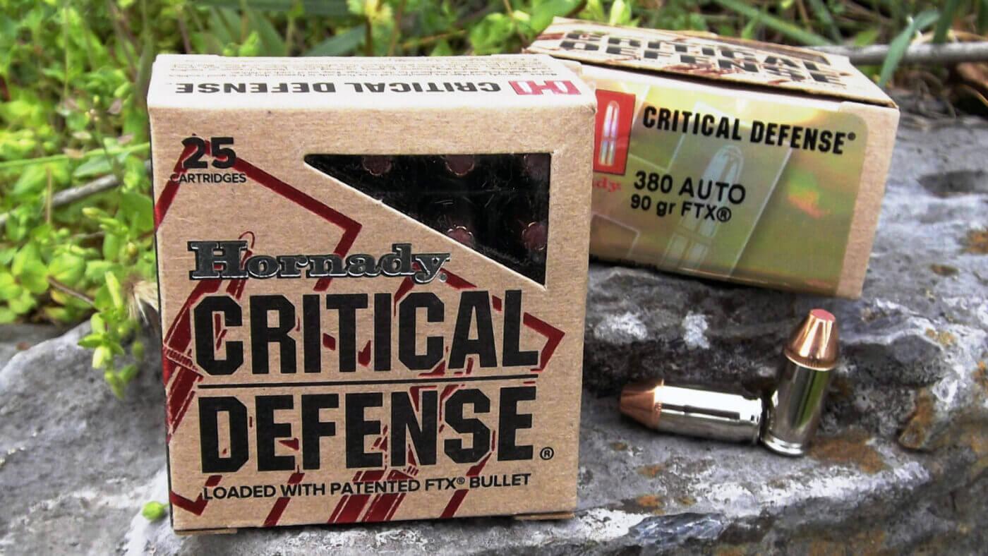 Hornady Critical Defense ammo in .380 ACP