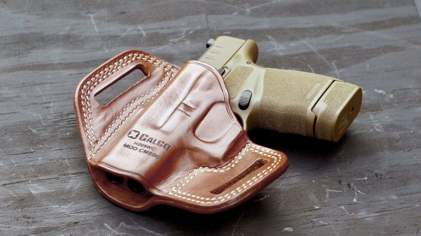 Combat Master leather holster with Hellcat