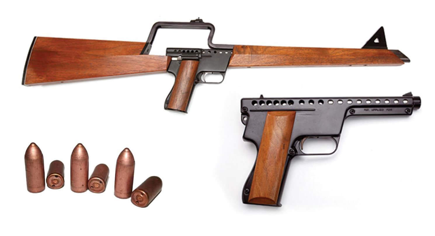 Gyrojet pistol, rifle, and ammo