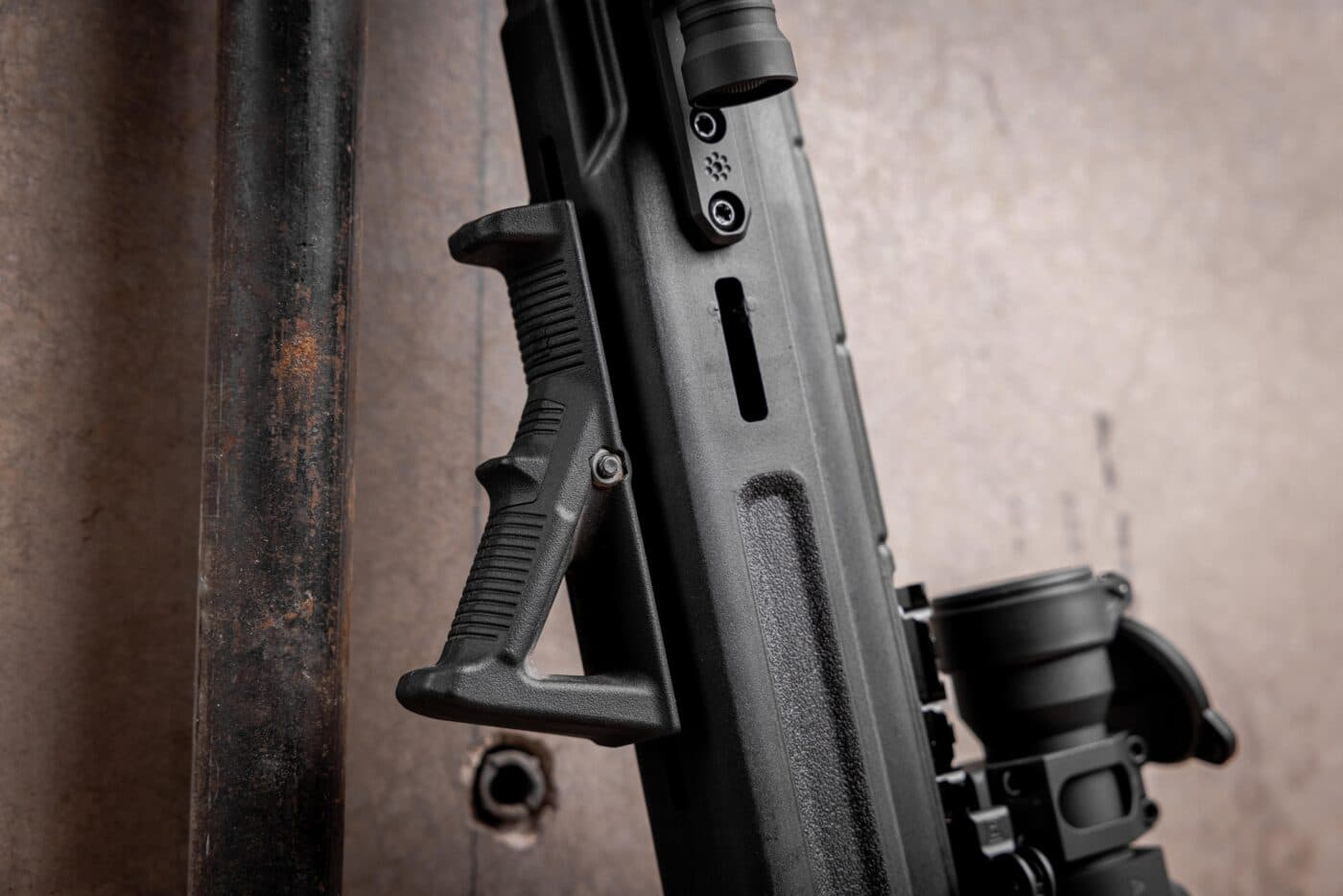 Magpul AFG-2 angled foregrip on an M1A rifle