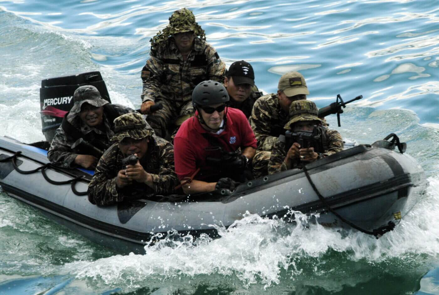 Philippine Navy Sailors with M3A1 SMGs