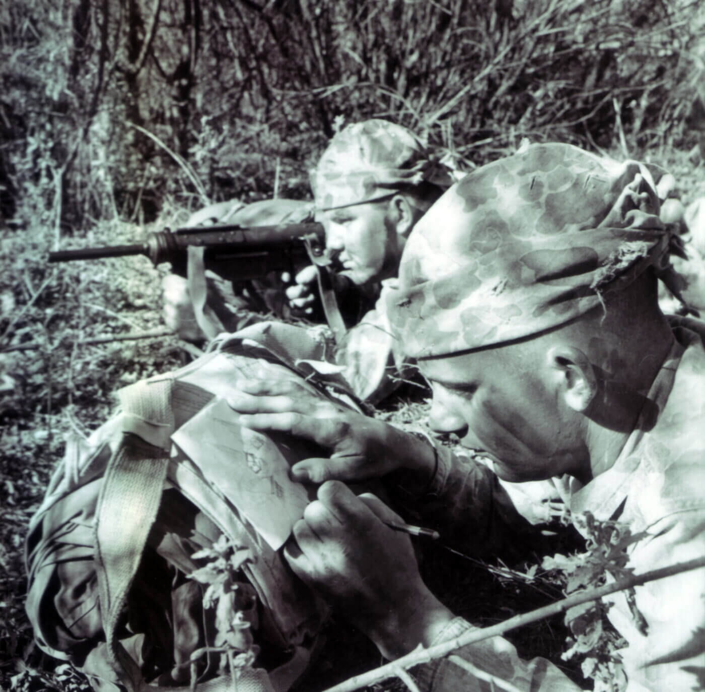 USMC Force Recon team with M3 Grease Guns during 1957