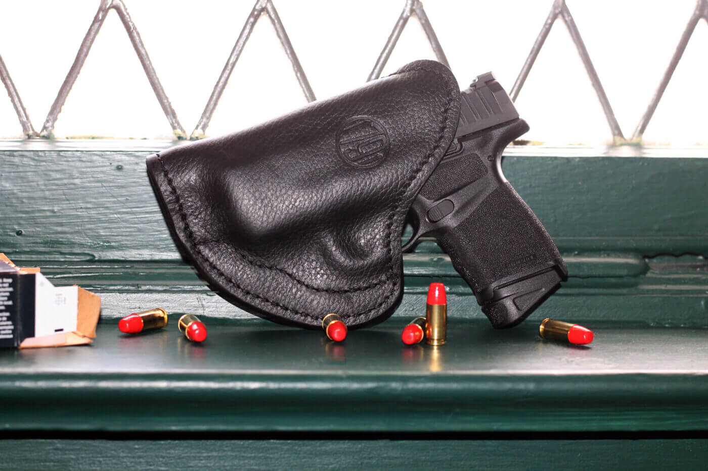 1791 Gunleather holster with Springfield Hellcat pistol inserted