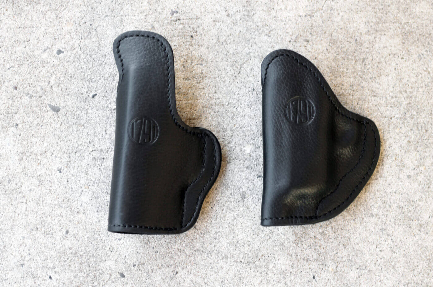 Before and after of the holster molding