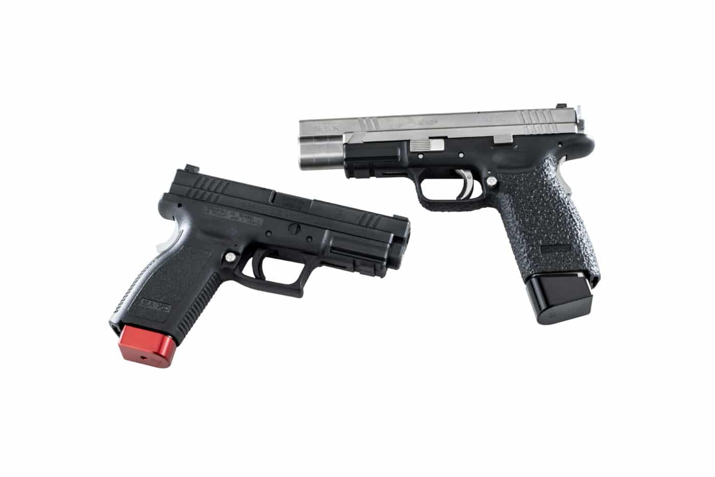 A pair of customized Springfield XD pistols